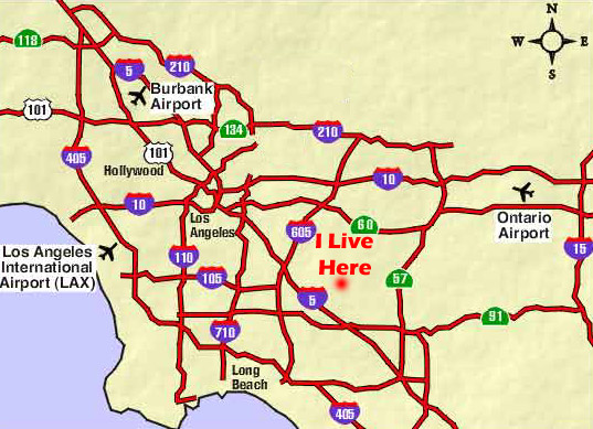 La Freeway Map Pictures To Pin On Pinterest  PinsDaddy